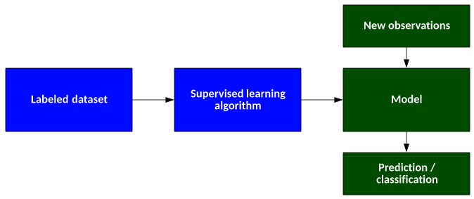 A typical supervised learning algorithm